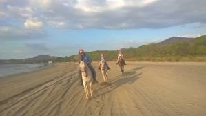 My loved ones riding to Playa Conchal