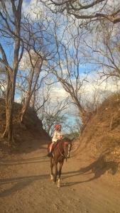 Dana riding to Playa Conchal