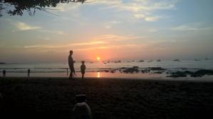 Playing on the beach at Playa Tamarindo